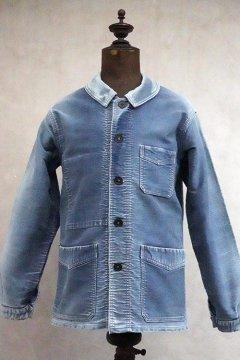 1940's-1950's blue moleskin work jacket