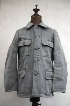 mid 20th c. gray pique hunting jacket