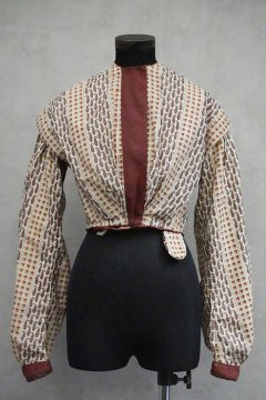 cir. 1850's printed cotton top