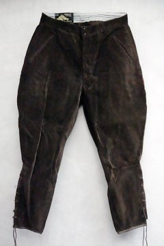 1940's-1950's dark brown cord jodhpurs