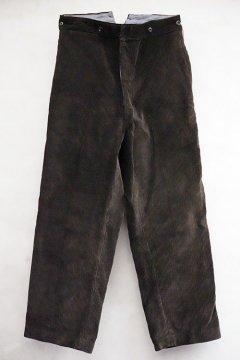 ~1940's dark brown corduroy trousers dead stock