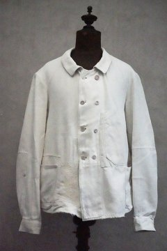 ~1930's white double berasted work jacket