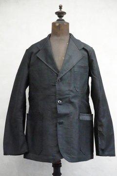1950's black moleskin work jacket dead stock