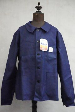mid 20th c. blue cotton twill work jacket