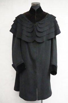 1930's-1940's black cape coat