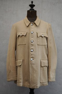 cir.1930's French military beige pique jacket
