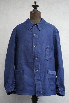 1940's blue moleskin work jacket