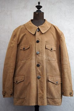 mid 20th c. brown cotton duck hunting jacket