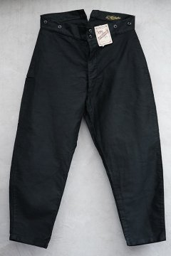 1930's-1940's black moleskin work trousers dead stock
