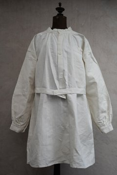 cir.1940's French military white linen smock H.M. dead stock