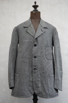 1940's gray striped cotton jacket