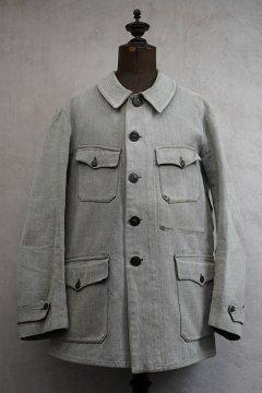 1930's-1940's salt&pepper cotton hunting jacket