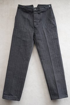 mid 20th c. gray striped cotton work trousers dead stock