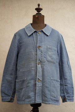 1930's-1940's bluen linen cotton twill work jacket