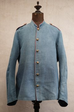 ~early 20th c. indigo linen firefighter jacket