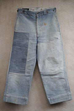 1940's blue moleskin work trousers