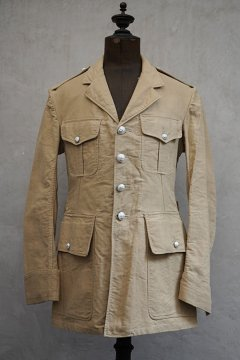 cir.1930's French military beige cotton jacket