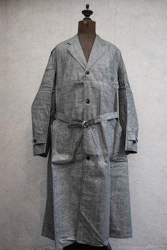 1940's linen chambray atelier coat