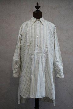 ~1930's blue striped cream cotton shirt