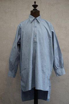 1930's-1940's light blue cotton shirt dead stock