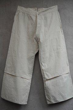 ~1940's ecru cotton work trousers