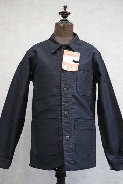 cir.1960's black moleskin work jacket dead stock