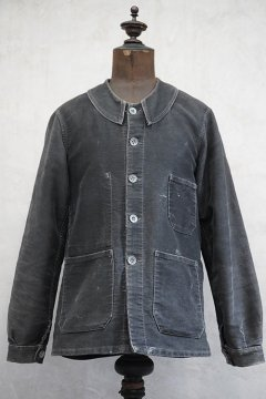1930's-1940's black moleskin work jacket