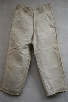 cir.1930's ecru linen work trousers