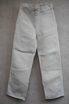 1930's marine nationale linen sailor pants
