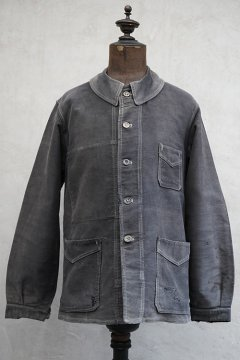 1930's black moleskin work jacket
