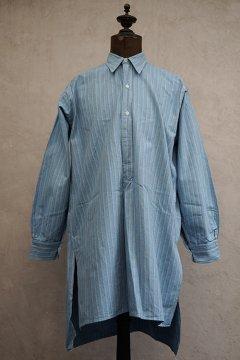 1930's striped blue cotton shirt dead stock
