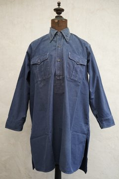 1930's French militaly blue cotton shirt