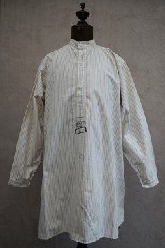 cir. 1910's French militaly striped cotton shirt M1878