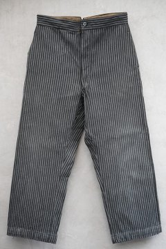 1940's gray striped cotton work trousers