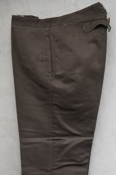 1940's brown pique work trousers dead stock