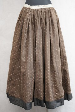 late 19th c. black silk skirt