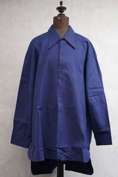mid 20th c. blue cotton work shirt dead stock size52