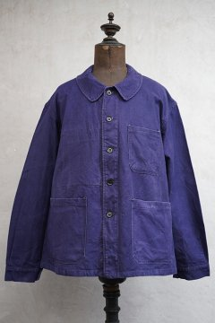mid 20th c. blue cotton twill work jacket PTT