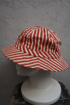 red striped cotton hat