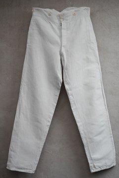 early 20th c. linen cotton trousers
