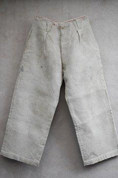 ~1930's heavy linen work trousers