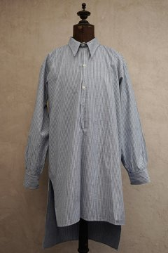1930's blue checked cotton shirt dead stock