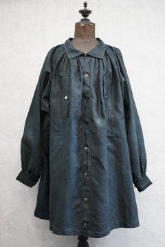 early 20th c. indigo linen smock