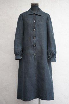 ~1930's indigo linen work dress