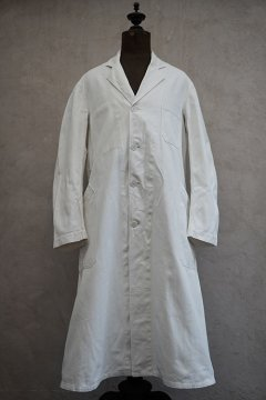1940's-1950's white cotton twill work coat