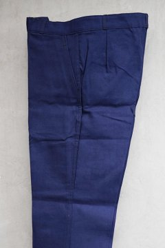 mid 20th c. blue cotton twill work trouser dead  stock