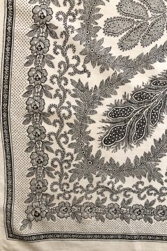 ~1930's printed white scarf