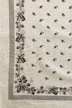 ~early 20th c. printed white scarf