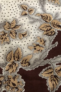 ~early 20th c. printed brown cotton scarf