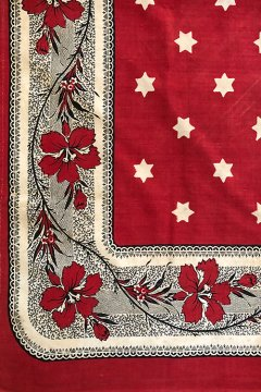 ~early 20th c. printed red scarf